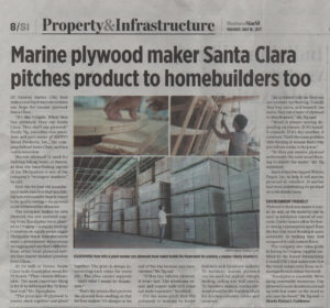 BusinessWorld - Marine plywood maker Santa Clara pitches product to homebuilders too