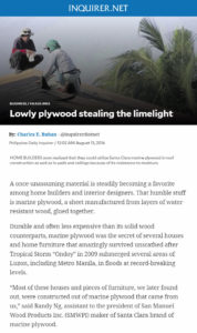 Philippine Daily Inquirer - Lowly plywood stealing the limelight